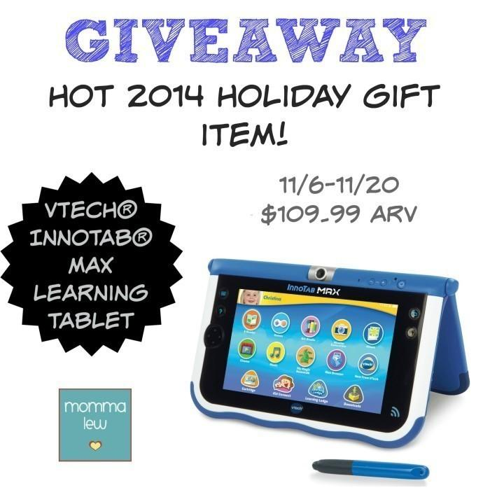 VTech InnoTab MAX Learning Tablet Giveaway