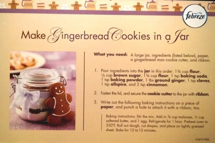 diy gingerbread cookies in a jar