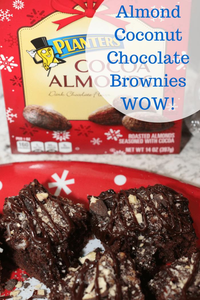 Almond Coconut Chocolate Brownies Recipe WOW!