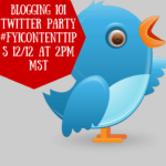Blogging 101 Twitter Party