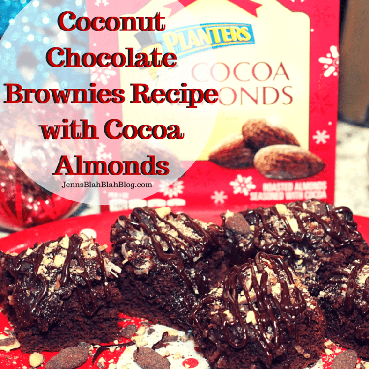 Coconut Chocolate Brownies Recipe with Cocoa Almonds