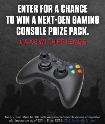 #Giveaways: Enter to #Win #AXEWithFriends Gaming Console Prize Pack