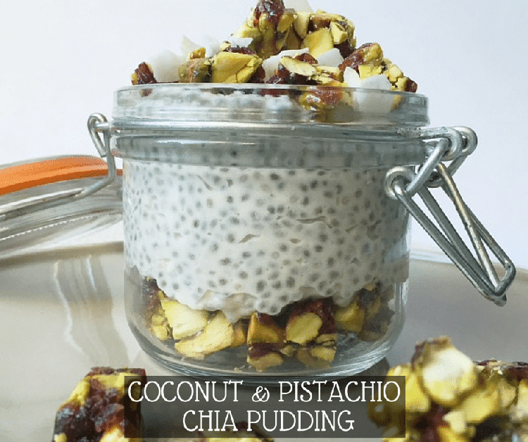 Coconut & Pistachio Chia Pudding Breakfast Recipe
