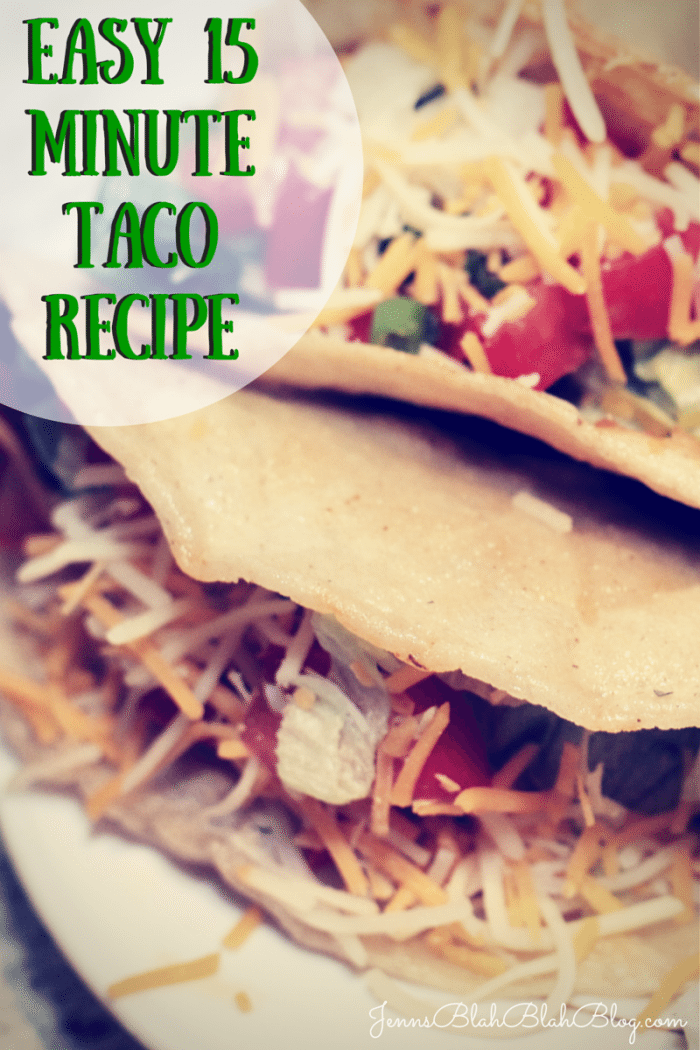 Easy 15 Minute Taco Recipe
