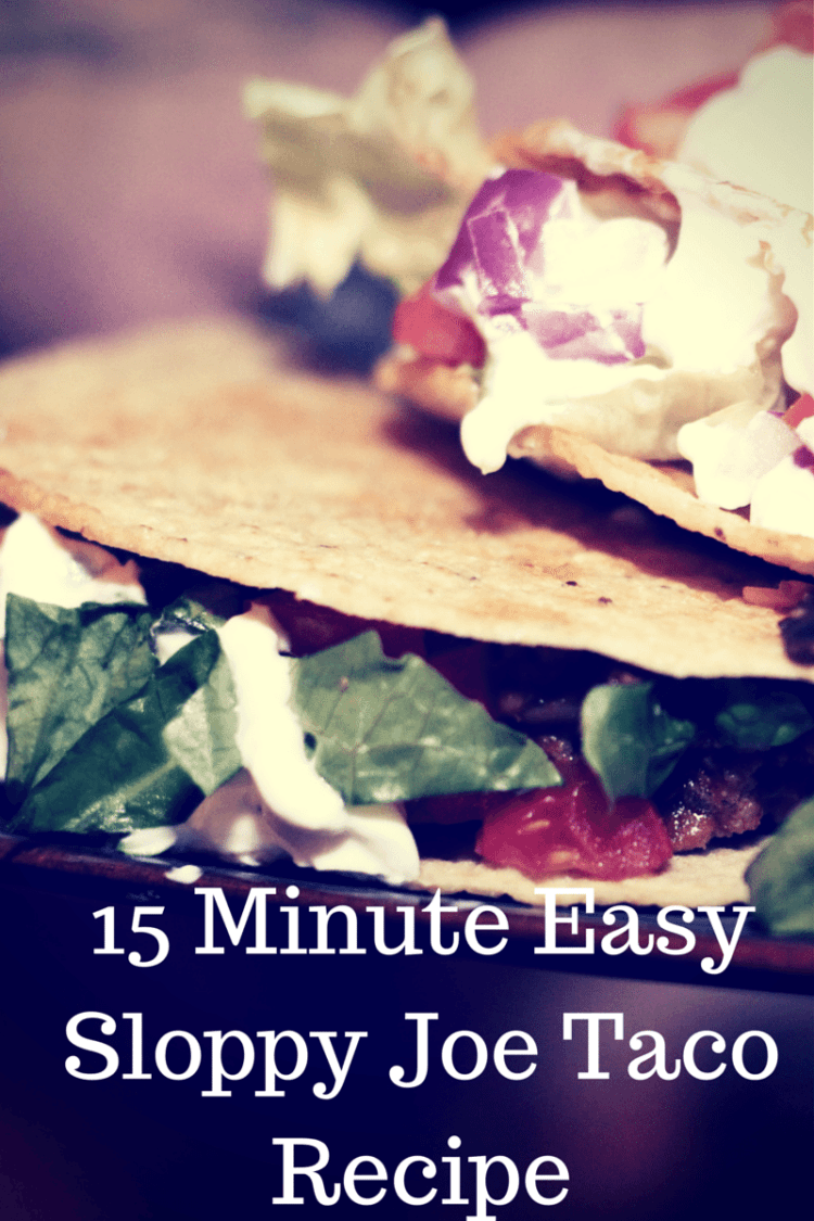 Easy Sloppy Joe Taco Recipe