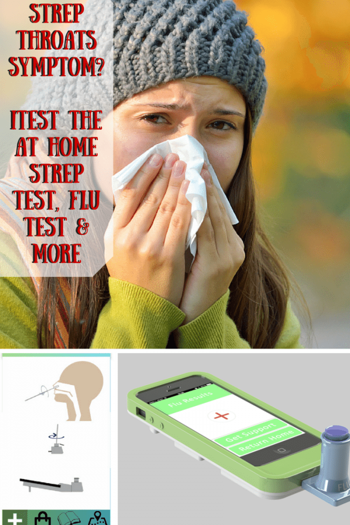 Strep Throats Symptoms iTest The At Home Strep Test, Flu Test