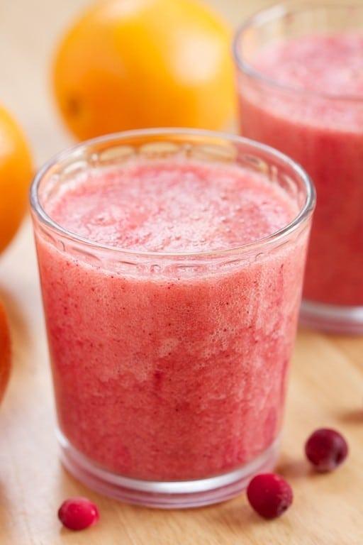 Vitamin C Booster Cranberry Orange Smoothie