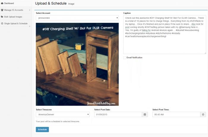 schedule instagram posts on your computer