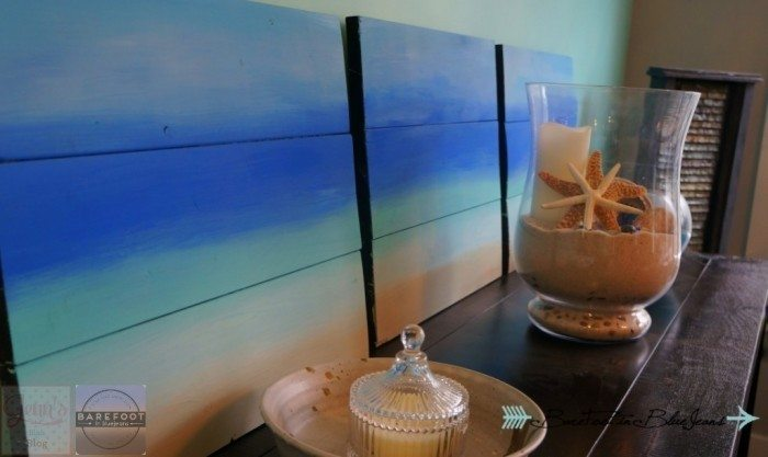 Easy DIY Wooden Ombre Beach Paining