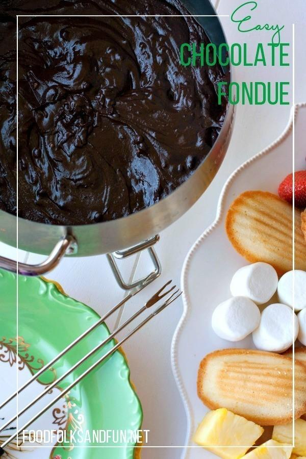 Easy Chocolate Fondue Recipe & a Fondue Set Giveaway!