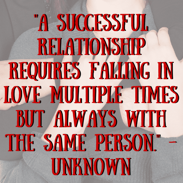 -A successful relationship requires