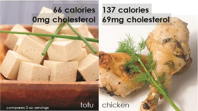 chicken vs tofu