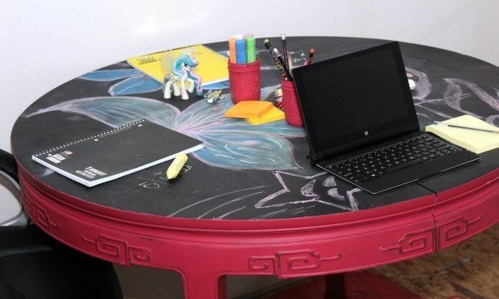 diy kids table DIY Project Crisp Bodice Chalky Finish Paint valspar chalky finish paint