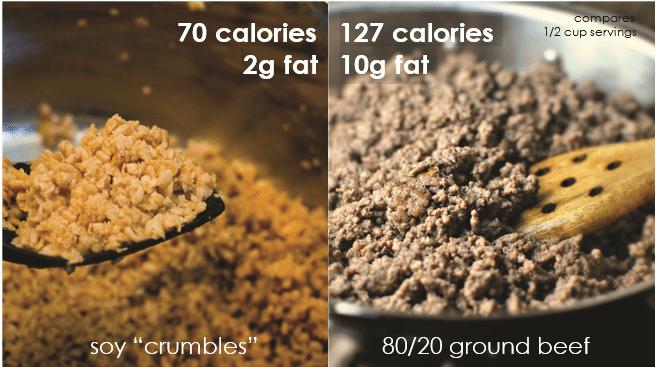 ground beef vs crumbles