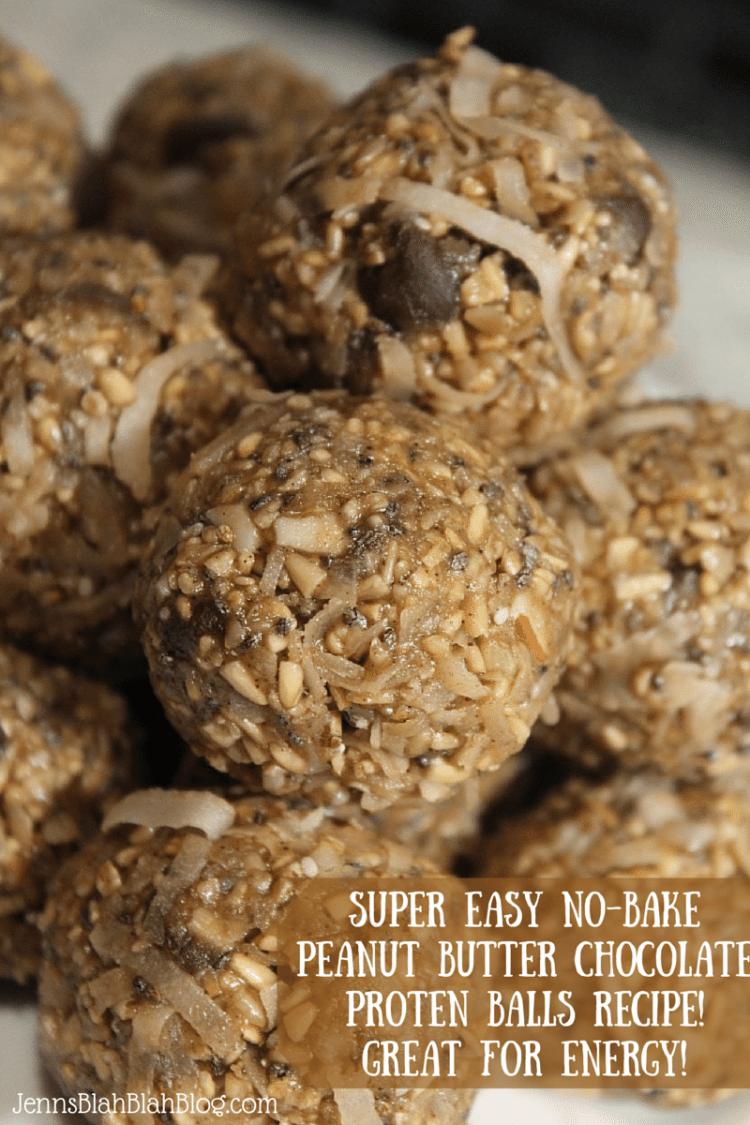 SUPER EASY No-Bake Peanut Butter proten balls