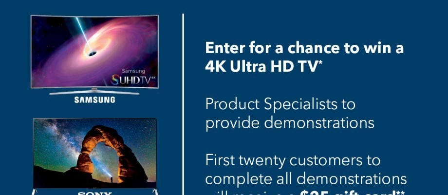 4K Ultra HD in store events happening now at Best Buy