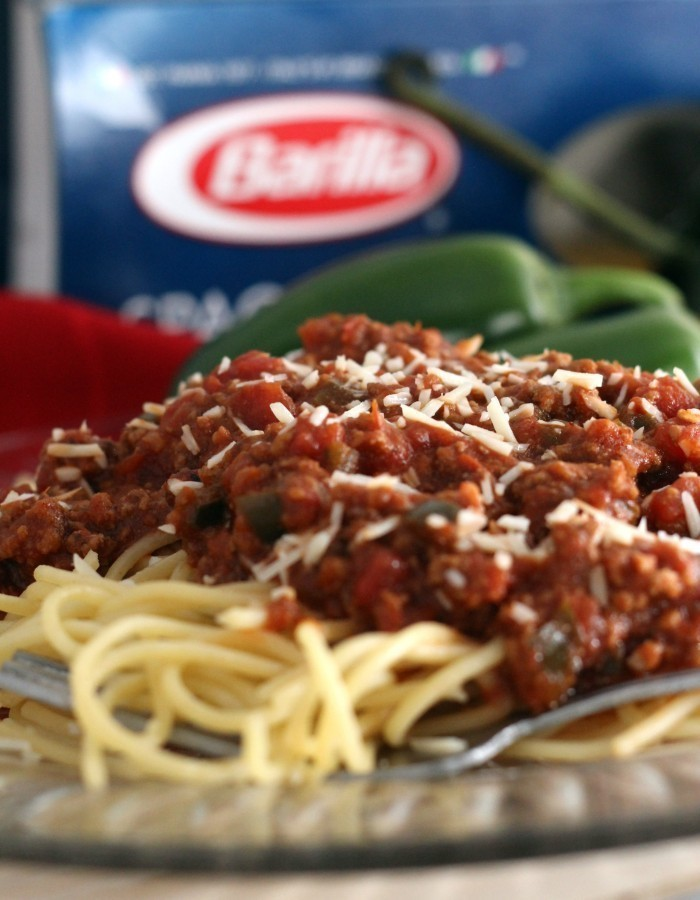 Homemade Spaghetti Sauce and Noodles