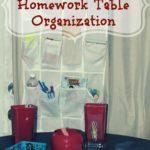 DIY Kids Work/Play Table Organization Project