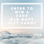 gift card giveaway button