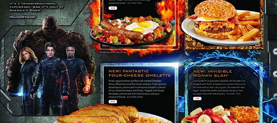 Denny's Fantastic Four Sweepstakes & Slamtastic 4 Menu