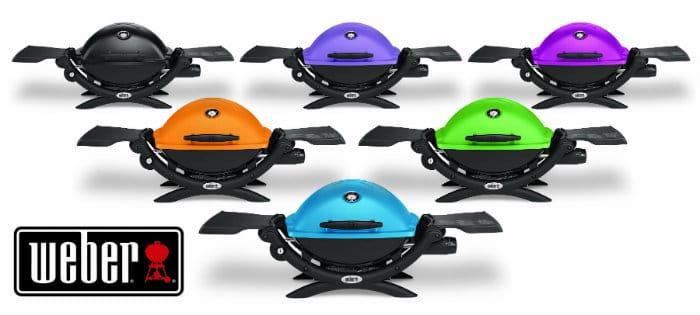 Barbecue in style with the colorful weber q 1200 grill for Weber gasgrill q1200