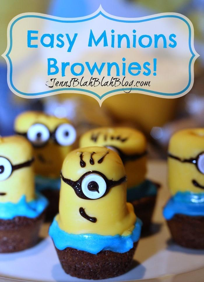 easy minions brownies