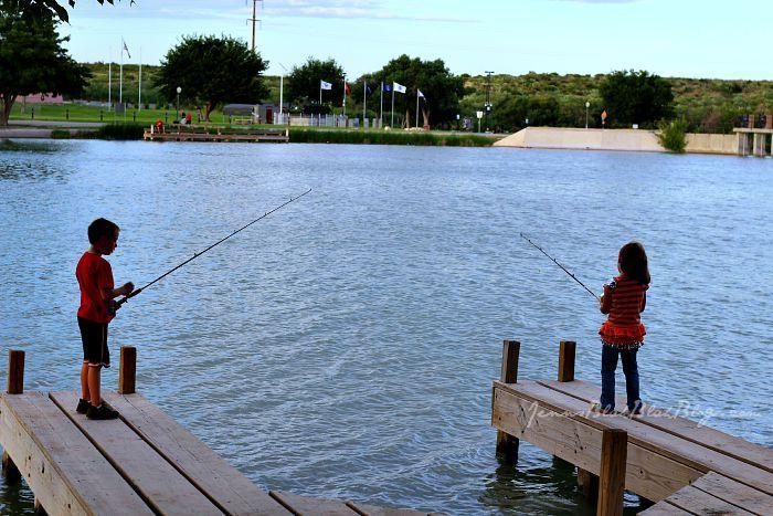 mattie and zander fishing