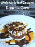 snickers ice cream brownie cups
