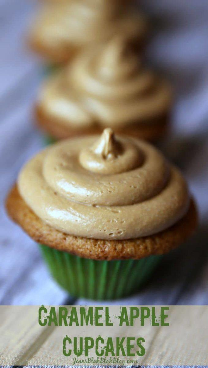 Caramel Apple Cupcakes & Frosting