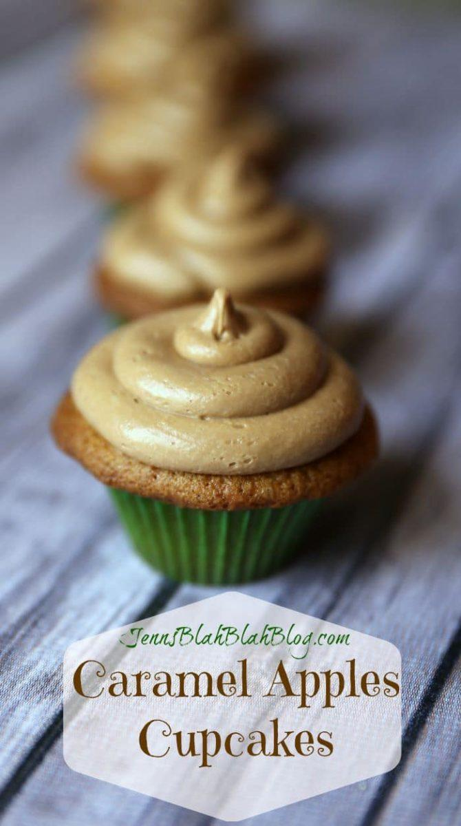 Caramel Apples Cupcakes and Caramel Frosting Recipes