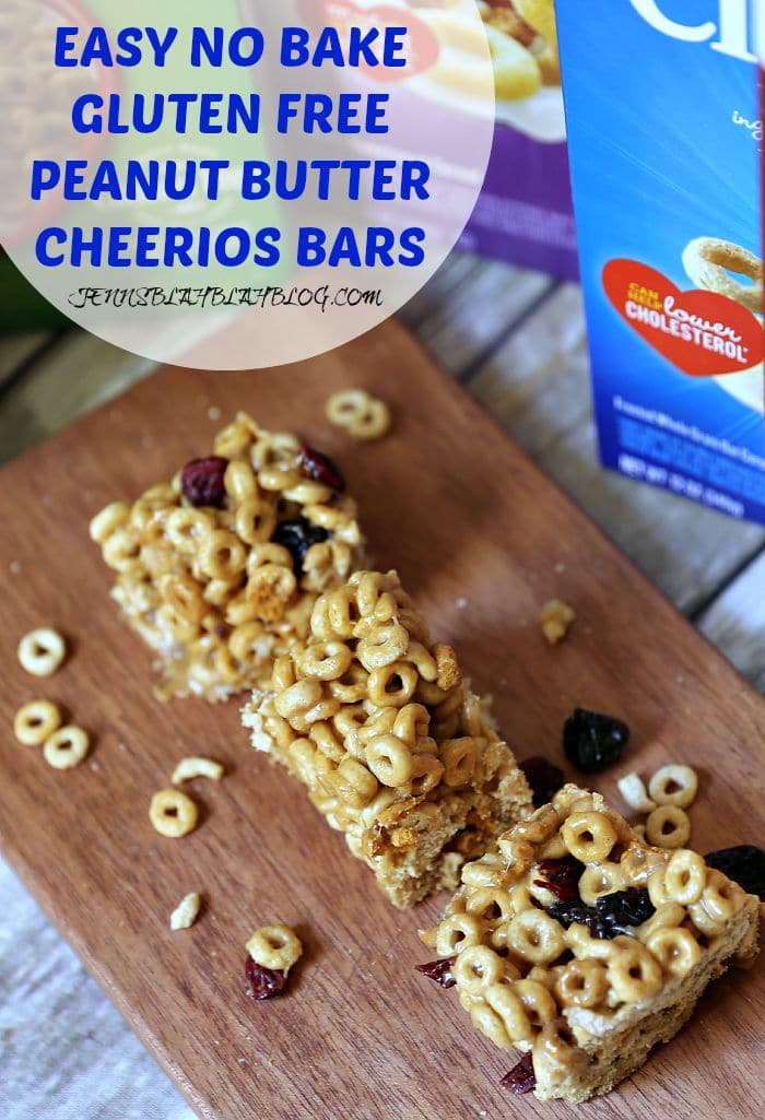 EASY NO BAKE GLUTEN FREE PEANUT BUTTER CHEERIOS BARS