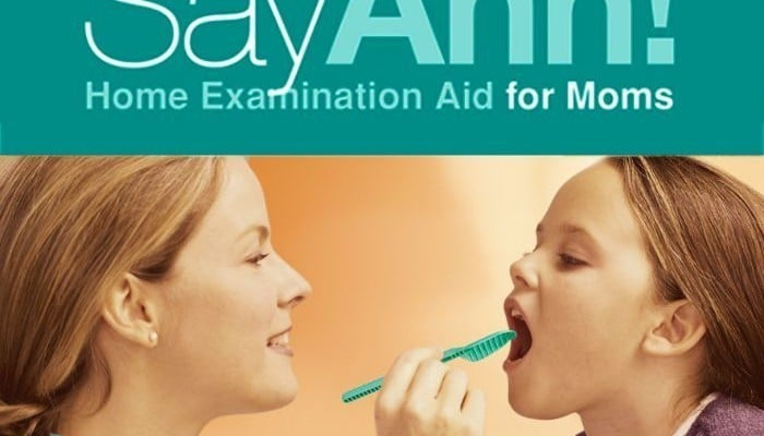 SayAhh! Sore Throat Home Exam Aid for moms
