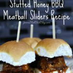 Slow Cooker Mozzarella Stuffed Honey BBQ Meatball Sliders