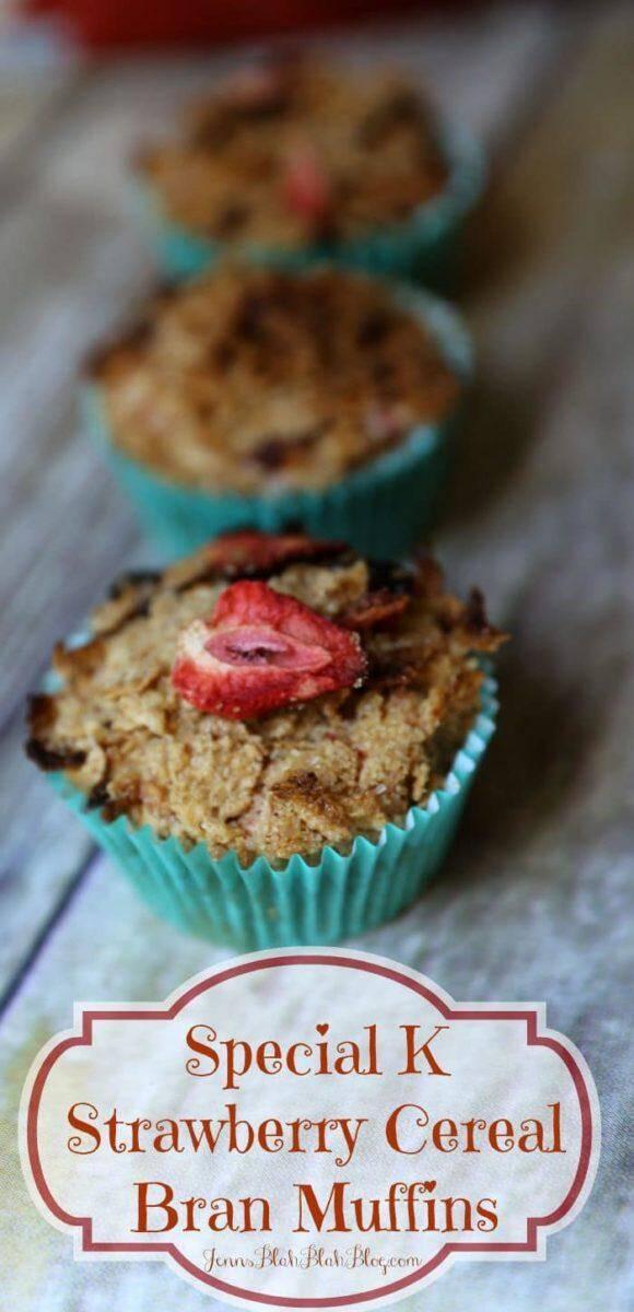 Special K® Strawberry Cereal Bran Muffins Recipe   www.jennsblahblahblog.com   @jenblahblahblog