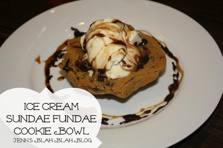 Ice Cream Sundae Fundae Cookie Bowl