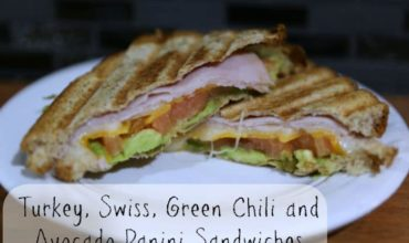 Turkey Swiss Green Chili & Avocado Panini Sandwich Recipe