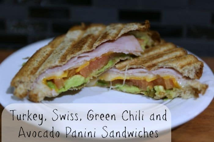 Turkey, Swiss, Green Chili and Avocado Panini Sandwiches recipe