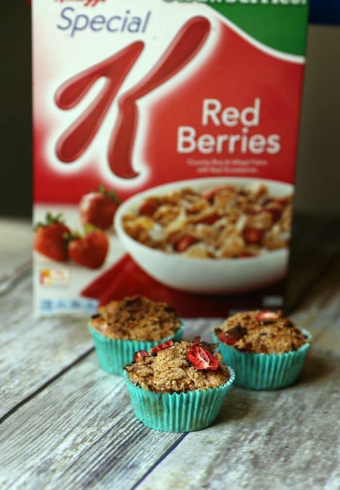 Special K® Strawberry Cereal Bran Muffins Recipe | www.jennsblahblahblog.com | @jenblahblahblog