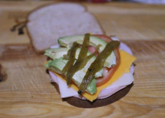 Turkey Swiss Green Chili & Avocado Panini Sandwiche Recipe