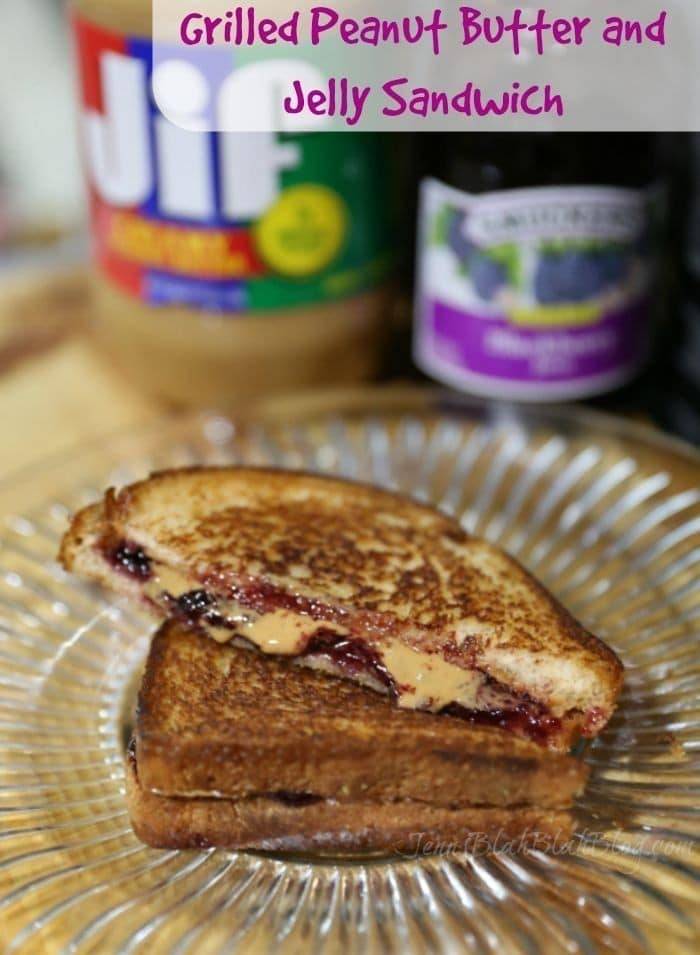 grilled peanut butter and jelly sandwich |