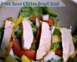 honey baked chicken breast salad