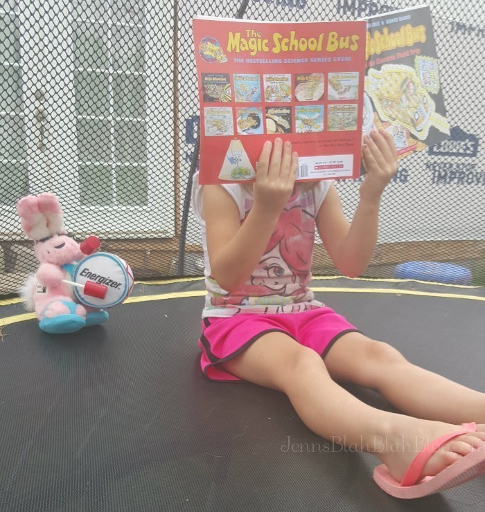 reading for scholastic summer reading challenge