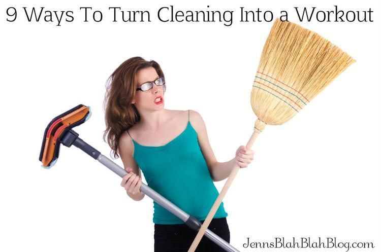 turn cleaning into a workout