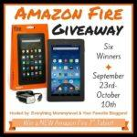 Welcome to the Amazon Fire Giveaway for SIX Winners