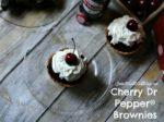 Dr Pepper Shredded BBQ Beef & Cherry Dr Pepper Brownies