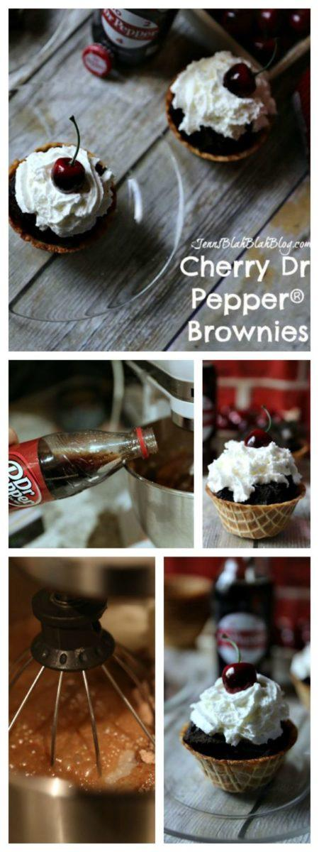 Cherry Dr. Pepper® Brownie waffle cone cups