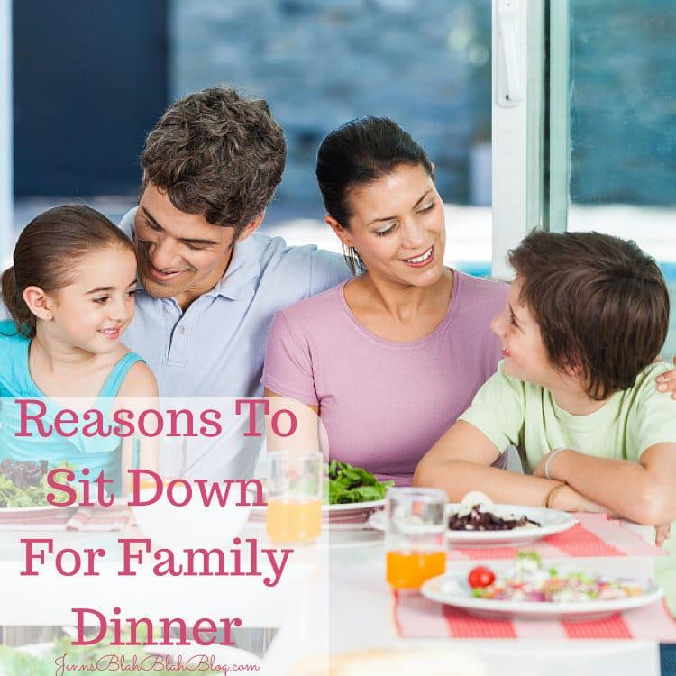 Reasons To Sit Down For Family Dinner