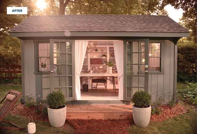 """Shed Pictures Design: Attention Ladies! Create Your Own """"She Shed"""""""