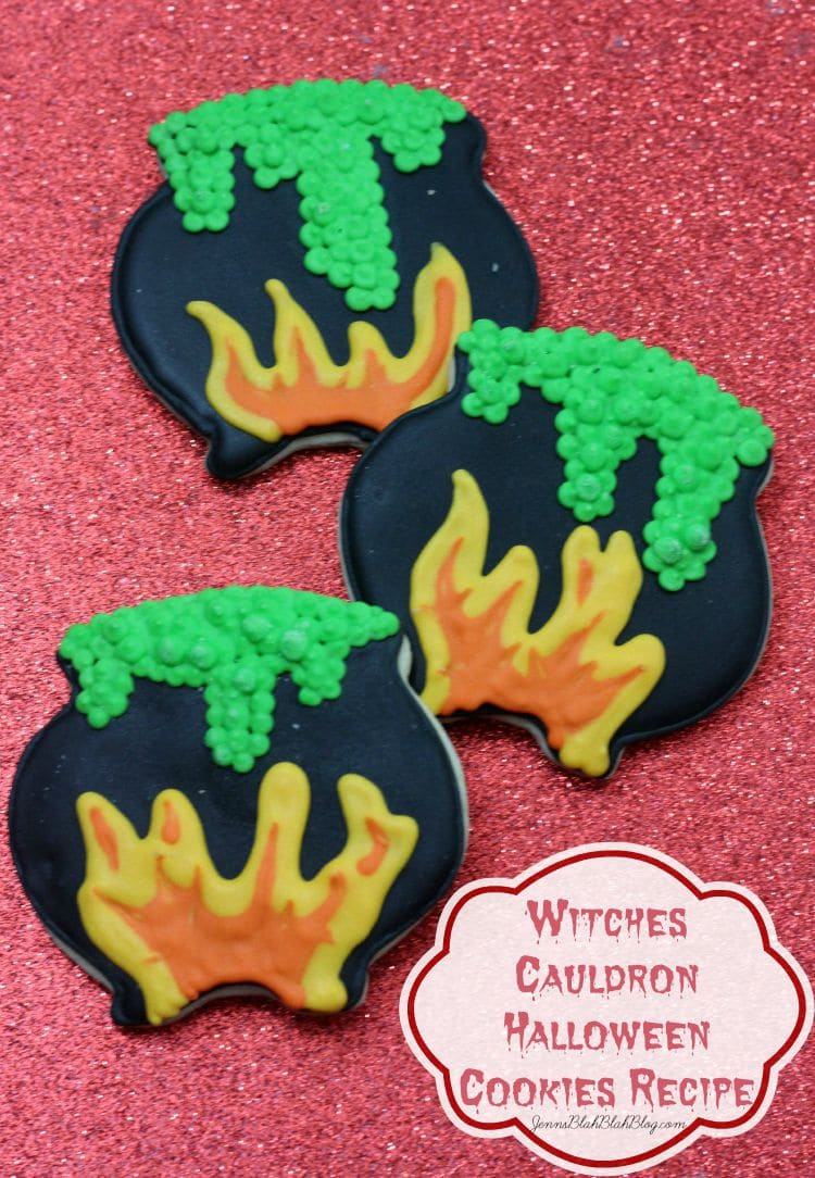 Witches Cauldron Halloween Cookies Recipe | www.jennsblahblahblog.com | @jenblahblahblog