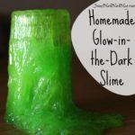 Easy Homemade Glow-in-the-Dark Slime Recipe